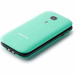 Mobitel Panasonic KX-TU400EXC tirkizni, preklopni, SOS tipka, GM