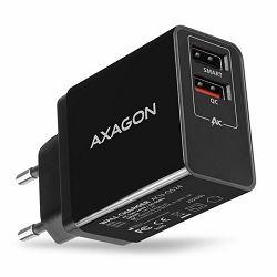 AXAGON ACU-QS24 zidni punjač 1x QC 3.0 i 1x Type C, 24W, crn