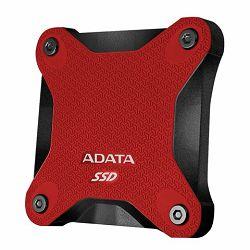 SSD Externi disk ADATA 256GB Red, ASD600