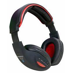 MS BASE crvene bluetooth slušalice s mikrofonom