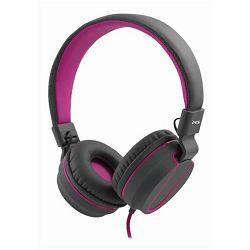 MS FEVER_2 slušalice s mikrofonom, sivo-roza
