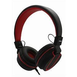 MS FEVER_2 slušalice s mikrofonom, crno-crvena