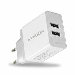 AXAGON ACU-5V3 zidni punjač 5V 2,1A + 1A, 15,5W, white