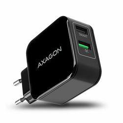 AXAGON ACU-QC5 zidni punjač Smart 5V 2,4A + 1x QC3.0, 30W, c