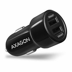 AXAGON PWC-5V5 car charger Smart 5V 2,4A + 2,4A, 24W, crni