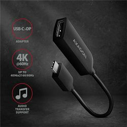 AXAGON USB-C -> DisplayPort adapter 4K/60Hz