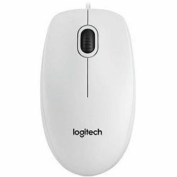 Miš žični Logitech B100 optical USB, bijeli