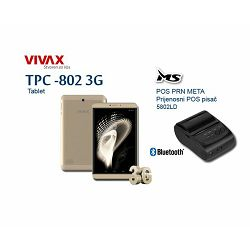 FISKALIZACIJA paket TPC-802 3G gold + POS printer META