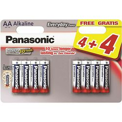 PANASONIC baterije LR6EPS/8BW 4+4F Alkaline Everyday Power