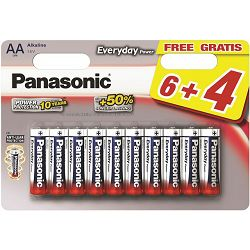 PANASONIC baterije LR6EPS/10BW 6+4F Alkal. Everyday Power