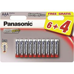 PANASONIC baterije LR03EPS/10BW 6+4F Alkal. Everyday Power