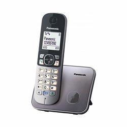 Telefon bežični PANASONIC KX-TG6811FXB metalik sivi