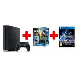 GAM SONY PS4 500GB F Chassis Black + DS+Fortnite VCH + Star