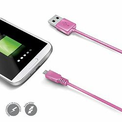 Celly Microusb DATA cabel Pink_MSN, 3410018837