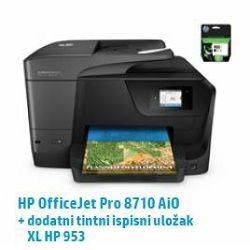 HP multfunkcijski pisač Officejet Pro 8710 AiO + XL crna tin