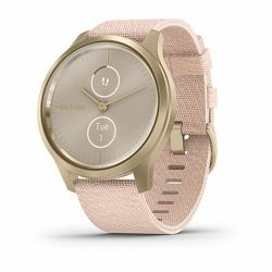 Garmin Vivomove Style Light Gold Blush Pink nylon