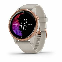 Garmin Venu RoseGold Light sand remen