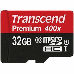 Memorijska kartica Transcend SD MICRO 32GB HC Class UHS 1 +