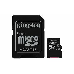Memorijska kartica  Kingston SD MICRO 128GB Class 10 UHS-I +