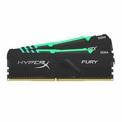 Memorija Kingston DDR4 16GB 2400MHz (2x8GB) HyperX Fury Blac