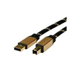 Roline GOLD USB2.0 kabel TIP A/B M/M, 1.8m