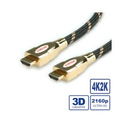 Roline GOLD HDMI Ultra HD kabel sa mrežom, HDMI M - HDMI M, 5.0m