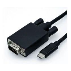 Roline USB Type C - VGA kabel, M/M, 1.0 m