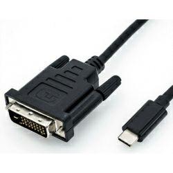 Roline USB Type C - DVI kabel, M/M, 2.0 m