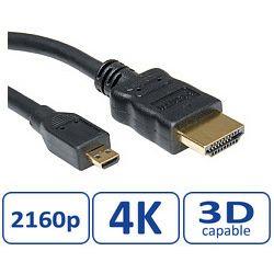 Roline HDMI kabel sa mrežom, TIP A (M) - TIP D (M) (micro), 2.0m