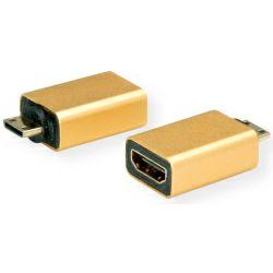 Roline GOLD adapter mini HDMI(M) - HDMI(F)
