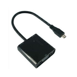 Roline VALUE adapter Micro HDMI(M) - VGA(F), 0.15m