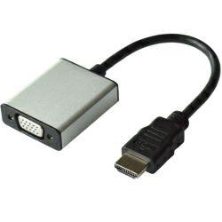 Roline VALUE adapter HDMI - VGA+Audio, M/F, (Stereo), 0.15m