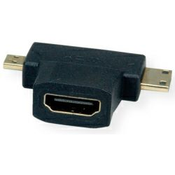 Roline VALUE T-adapter HDMI - mini HDMI/micro HDMI