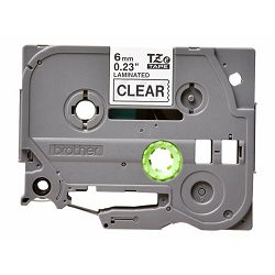 BROTHER TZE111 tape black/clear 6mm 8m