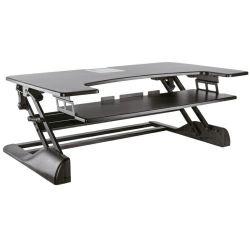 Roline Workstation desktop stalak, podešavajući za sjedenje/stajanje, crni