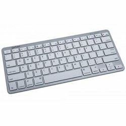 Tipkovnica Wireless Tablet Mini Keyboard, Bluetooth, White/Silver, US layout