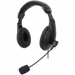 Manhattan Over-Ear Stereo USB Headset, Retail Box