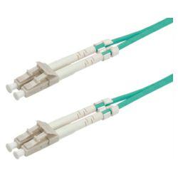 Roline optički mrežni kabel LC-LC, 50/125 OM3 duplex, 1.0m, tirkizni