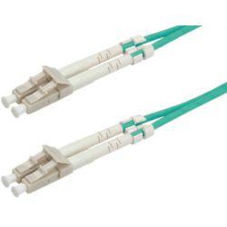 Roline optički mrežni kabel LC-LC, 50/125 OM3 duplex, 3.0m, tirkizni