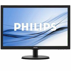 Monitor Philips LCD 223V5LHSB/00 (21.5, 1920x1080, LED Backlight, 1000:1, 10000000:1(DCR), 170/160, 5ms, HDMI/VGA) Black