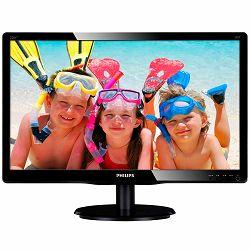 Monitor Philips LED 226V4LAB, 00 (21.5, 1920x1080, LED Backlight, 1000:1, 10000000:1(DCR), 170, 160, 5ms, DVI, VGA, Audio) Black