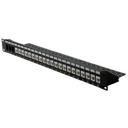 Roline 24-port Patch Panel Keystone UTP Cat.6 (Class E), unshielded black