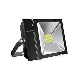 EcoVision LED reflektor 100W, 6000K, hladna-bijela, crni, SMD