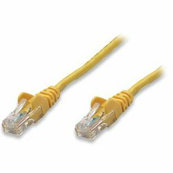 INT Patch Cable, Cat5e, U/UTP, RJ45-Male/RJ45-Male, 2.0 m, Yellow, Polybag