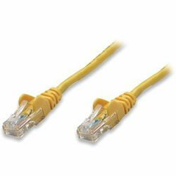 INT Patch Cable, Cat5e, U/UTP, RJ45-Male/RJ45-Male, 3.0 m, Yellow, Polybag