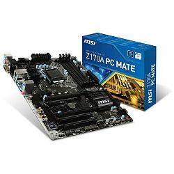 Matična ploča MSI MB Z170A PC Mate, S.1151, iZ170, DDR4/3200(OC), PCIe3.0, D-Sub/DVI/HDMI, S-ATA3, RAID, G-LAN, USB3.1, 8ch., ATX