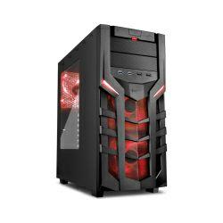 Sharkoon DG7000 Midi Tower ATX kućište, bez napajanja, crno, crveni led