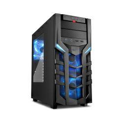Sharkoon DG7000 Midi Tower ATX kućište, bez napajanja, crno, plavi led