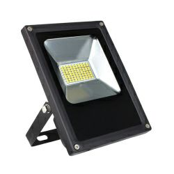 EcoVision LED reflektor 20W, 12V DC,  6000K, hladna-bijela, crni