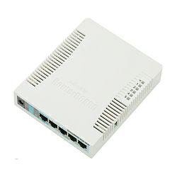 Mikrotik RouterBOARD 951G-2HnD, 600Mhz CPU, 128MB RAM, 5×Gigabit LAN, 2.4Ghz 802b/g/n 2x2 , bežično sa ugrađenom antenom, RouterOS L4, plastično kučište, PSU